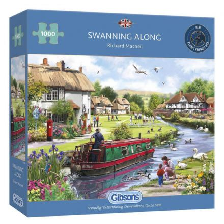 Swanning Along by Richard Macneil 1000 Piece Gibsons Jigsaw